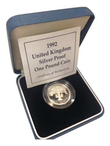 1992 Silver Proof One Pound Coin